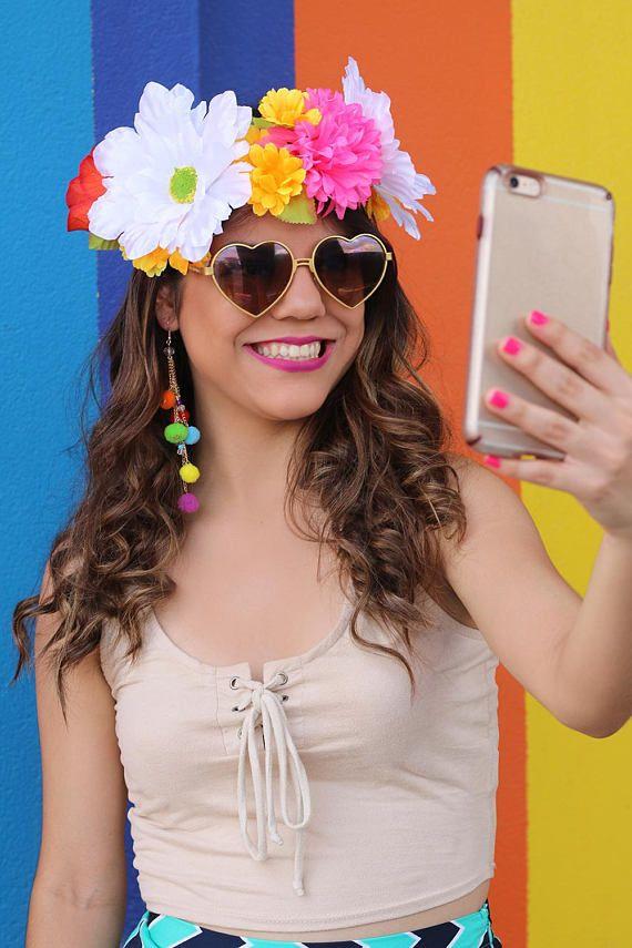 Snap Filter Headpiece Easy Halloween Costume Snap Flower