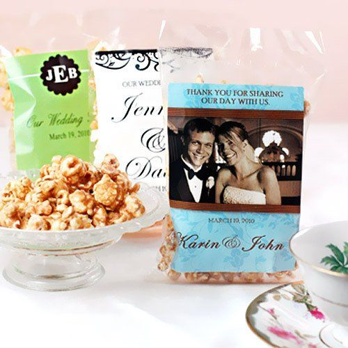 Wedding Favour Ideas On A Budget: Personalized Caramel Corn