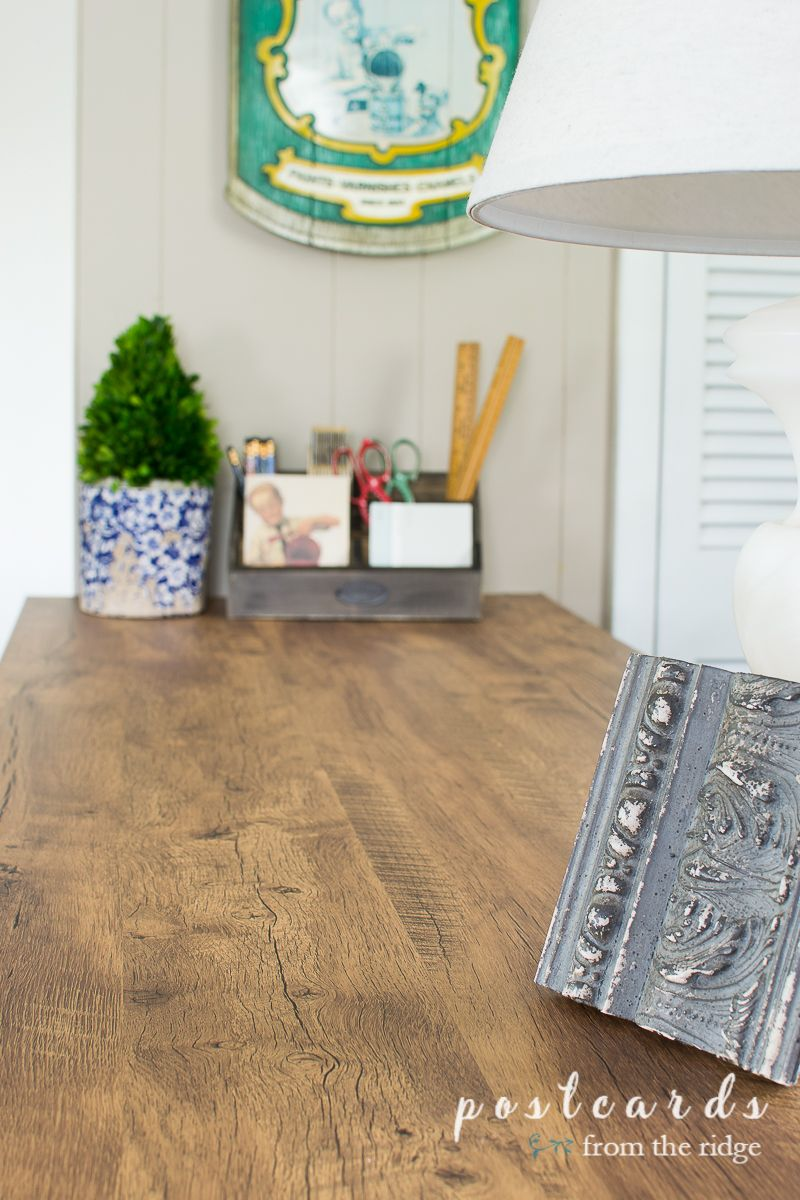 How I Updated A Countertop With Wood Look Contact Paper