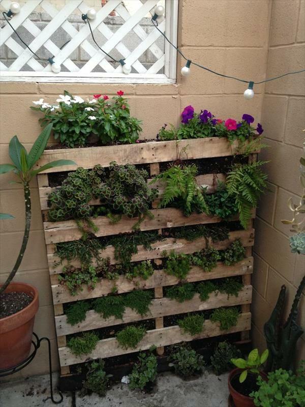 Gartengestaltung Ideen Vertikaler Garten Diy Aus Europaletten ... Vertikale Garten Ideen Garten Balkon
