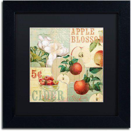 Trademark Fine Art Apple Blossoms I Canvas Art by Color Bakery Black Matte, Black Frame, Assorted