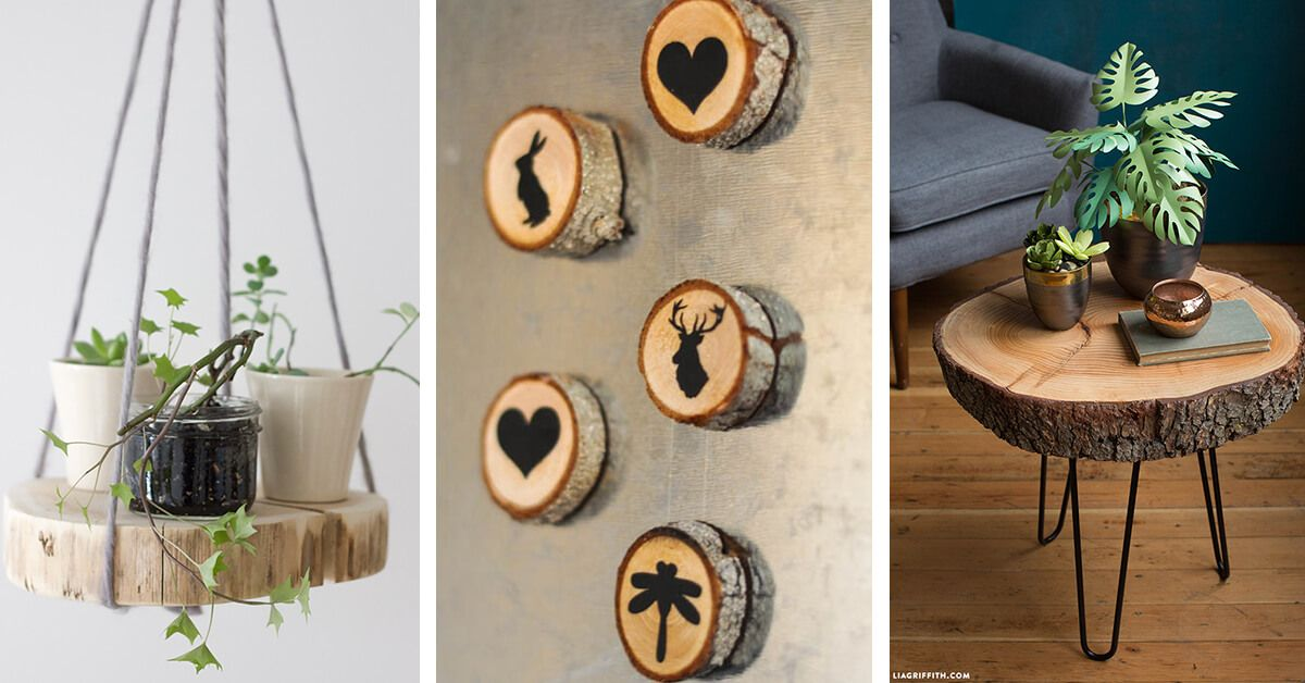 21 Creative Wood Slice Projects And Decorations That Are Full Of Rustic Charm In 2020 Wood Slice Decor Wood Slices