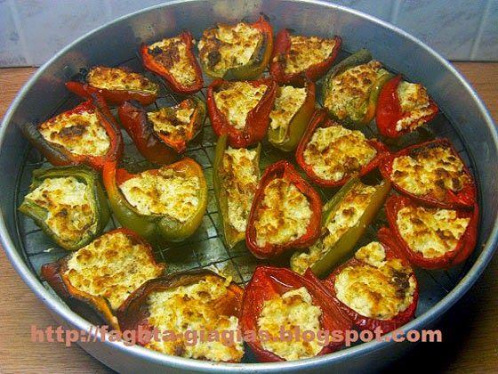 Πιπεριές ψητές με φέτα - Τα φαγητά της γιαγιάς