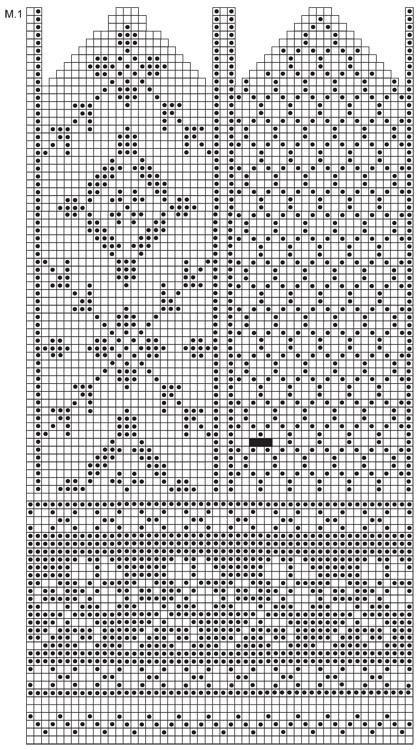 Glove knitting pattern: Free chart | lapaset | Pinterest | Guantes ...