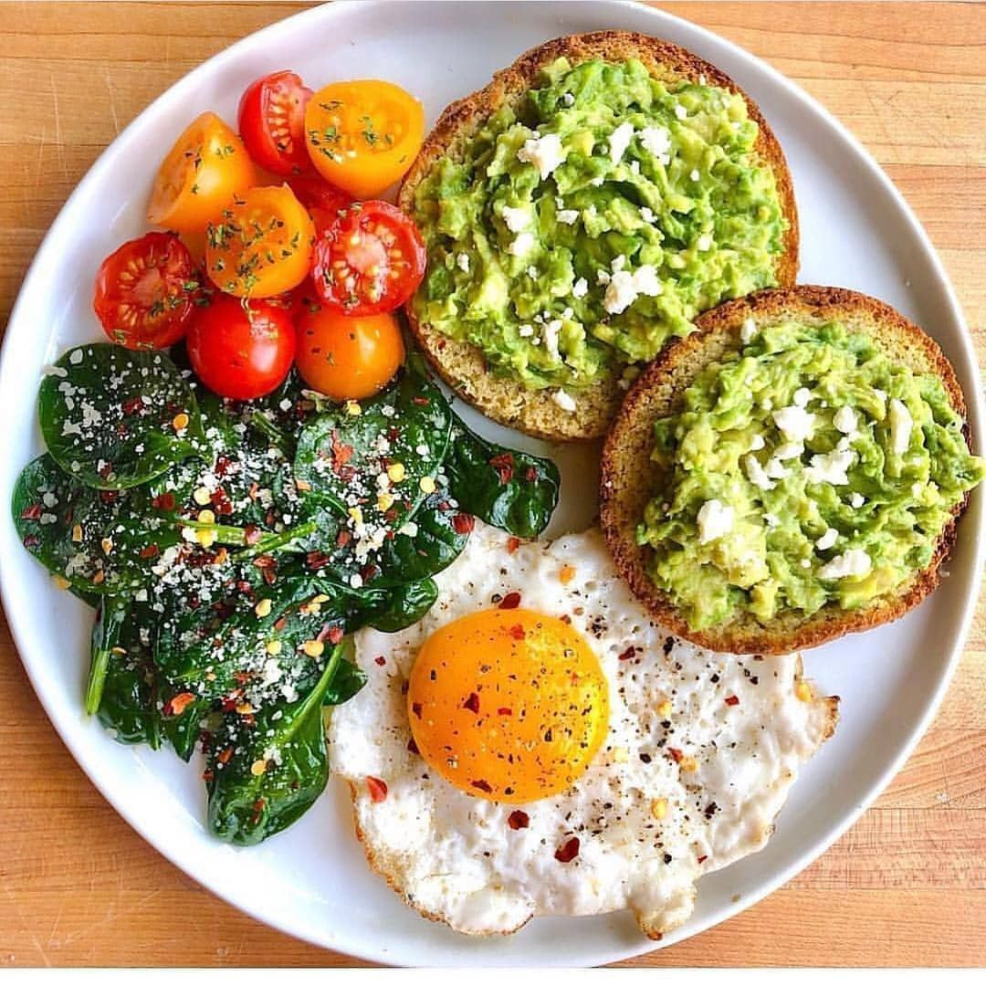 "Losing Weight Meal Ideas on Instagram: ""Who loves this breakfast?� I DO� - Follow @losingweightmealideas For more delicious recipes! - Grain-free english muffin toasted and topped…"""