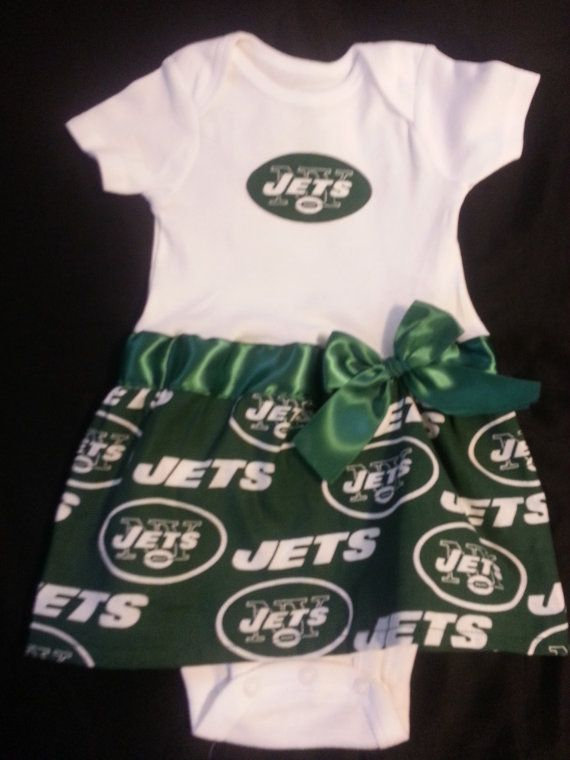 bd4f2585 New York Jets inspired baby girl outfit | New York jets | Girl ...