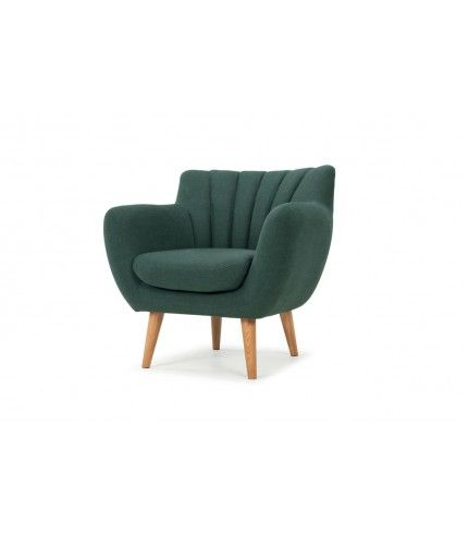 Nana, Chair, Dina forest green, oak legs