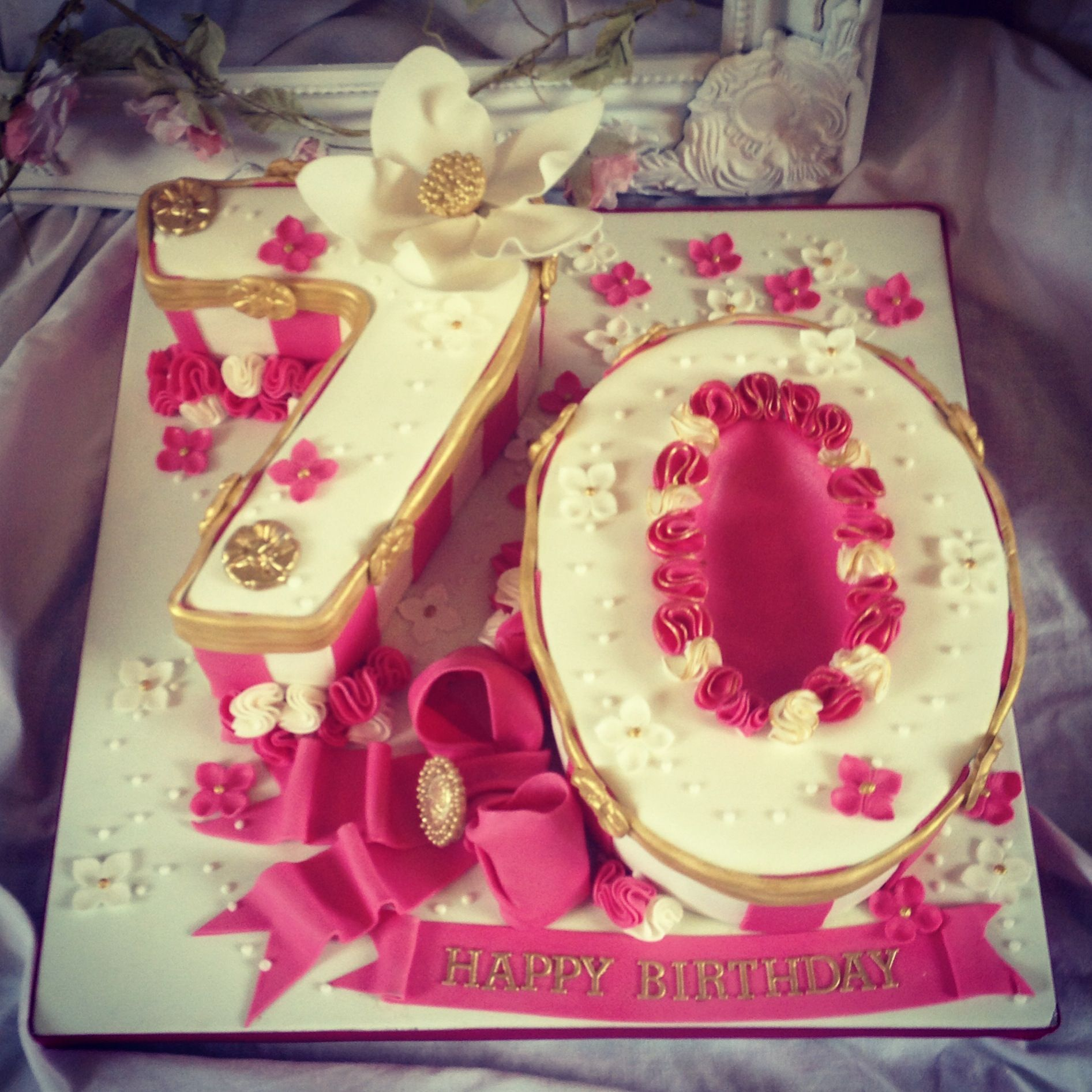 Ladies 70th Number Birthday Cake Number Birthday Cakes First