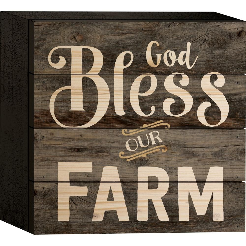 God Bless Our Farm block $12.95