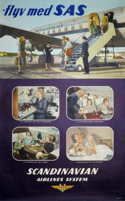 Cool airline poster from the golden age