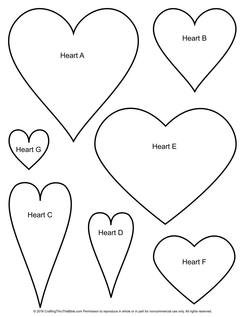 Heart Shape Templates | Church crafts | Pinterest | Heart shapes ...