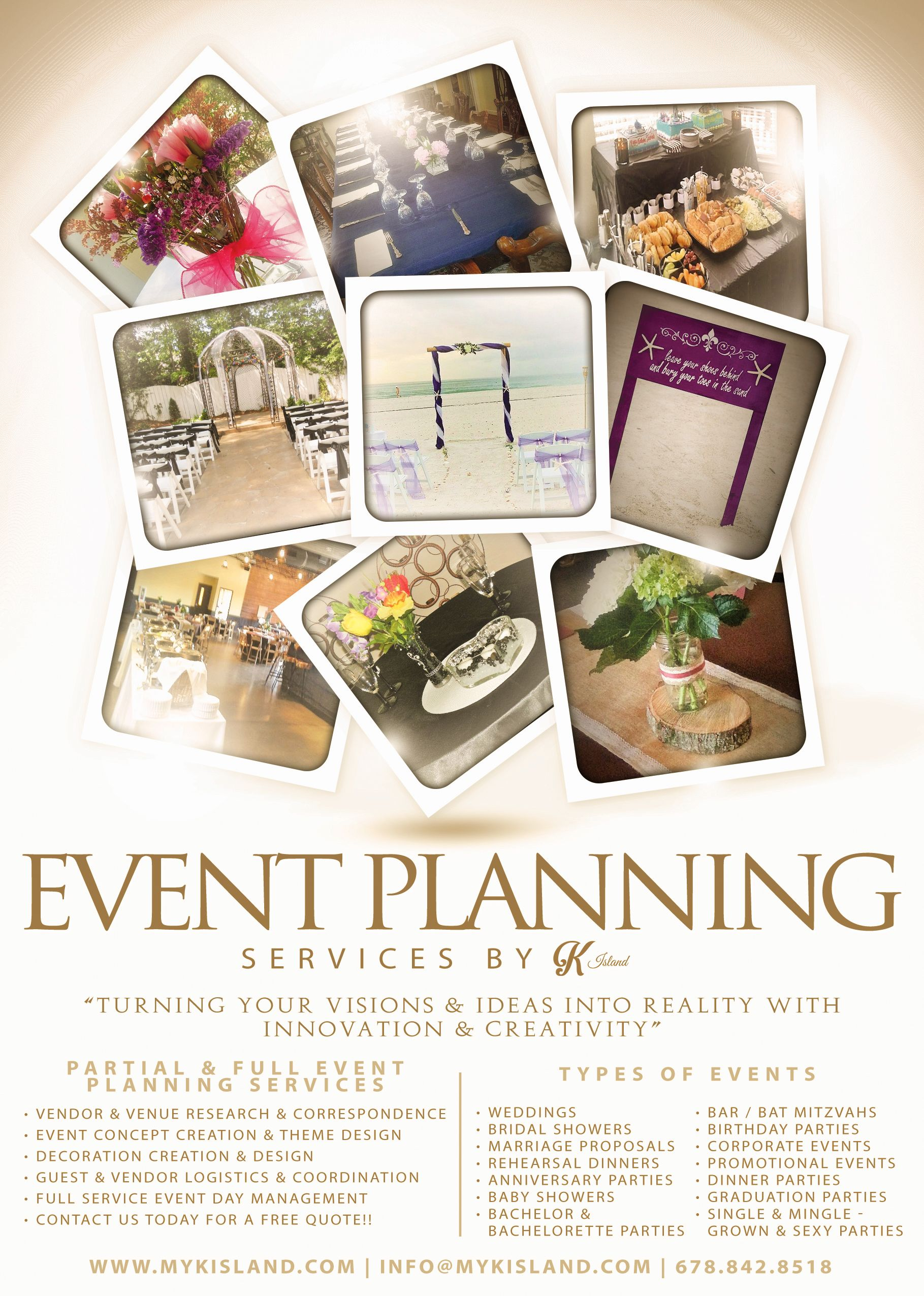Nice Event Planning Service Flyer Design Dxm