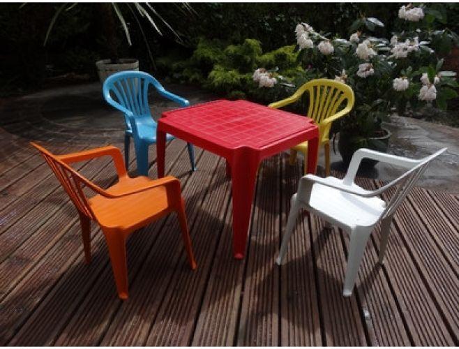 Leisure Kids 4 Seater Dining Set Outdoor Patio Furniture Decor