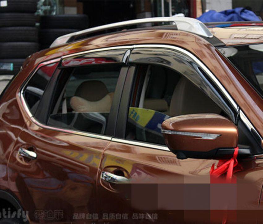 FIT FOR 14 NISSAN ROGUE X-TRAIL T32 WINDOW RAIN DEFLECTORS VISOR ...