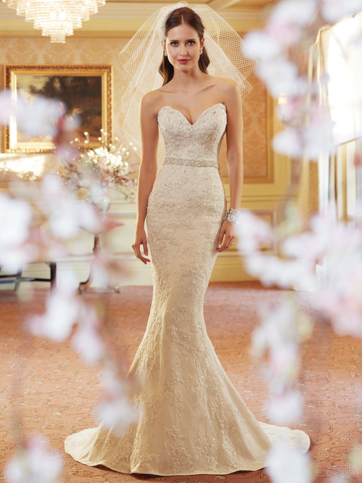 lace sweetheart trumpet