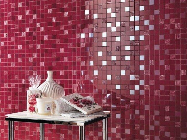 bad wand mosaik fliesen atlas concorde italien rosa | Powder ...