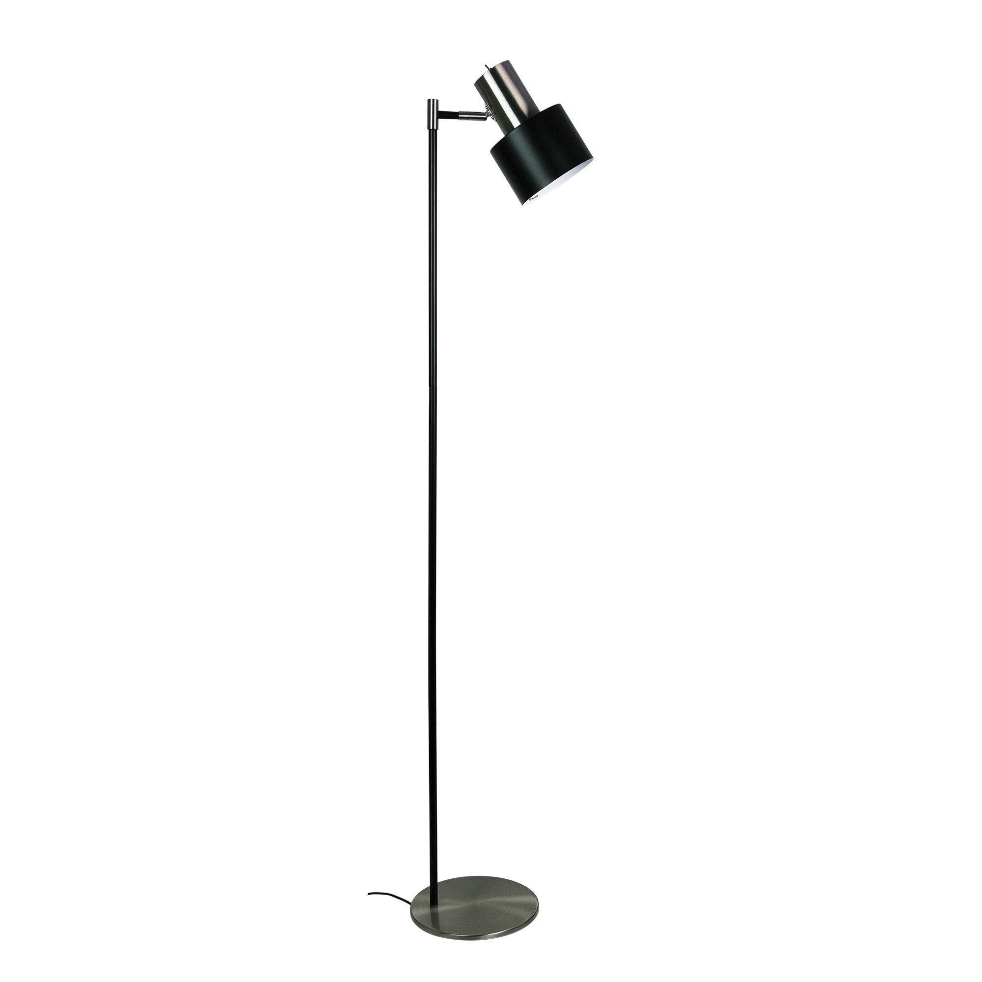 Ari Single Floor Lamp Range - Brushed Chrome / 5W Fancy Round S45 3000K Warm-White 420-Lumens