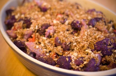 Roasted Purple Cauliflower with Sherry Vinaigrette and Fried Capers.  Great site with vegetarian, vegan and gluten free recipes.