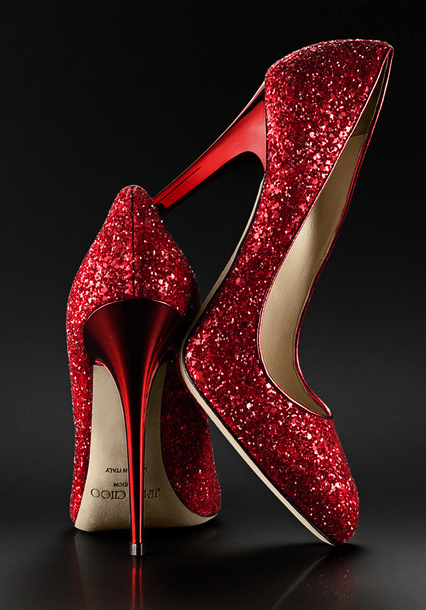 135ffc6b5ff Jimmy Choo red sparkle pumps  redglittershoes