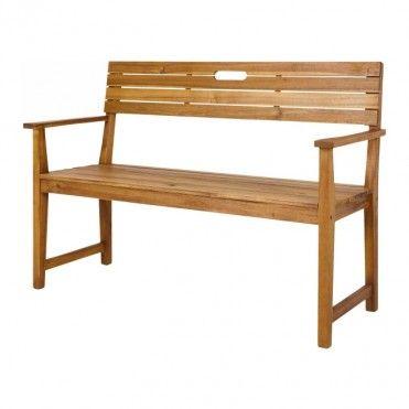 Lawka Z Oparciem Blooma Denia 128 5 X 57 X 89 7 Cm Akacja Lawki I Skrzynie Wooden Garden Benches Wooden Bench Diy Wooden Bench