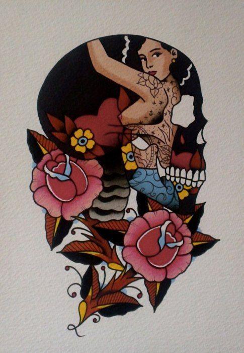 Old School Skull Tattoo Designs Best Tattoo Designs Diseno De Tatuaje De Calavera Tatuaje Tradicional Americano Disenos De Tatuajes De Chicas
