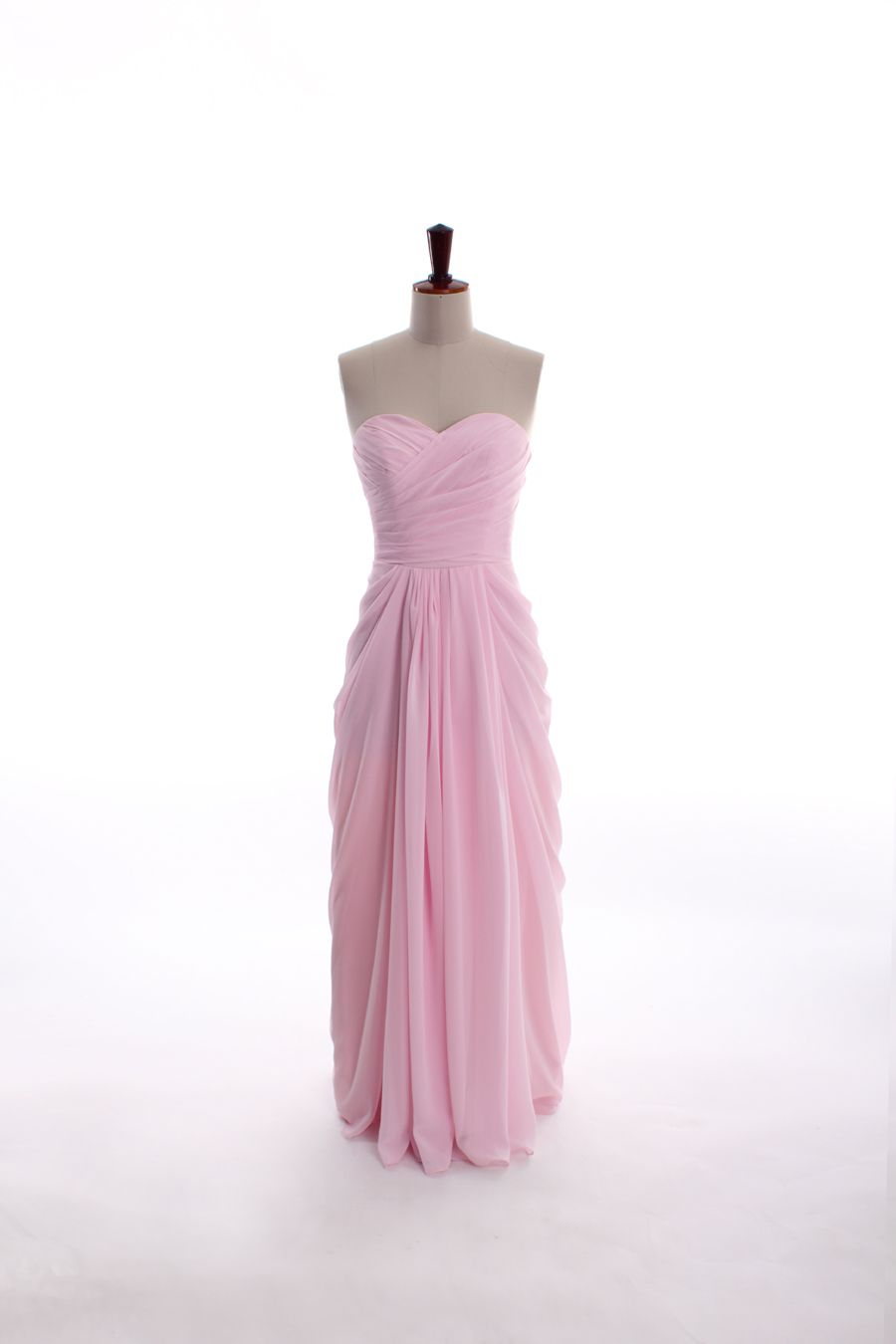 sweetheart neckline chiffon dress. BRIDESMAIDS! | Pretty pink dress ...