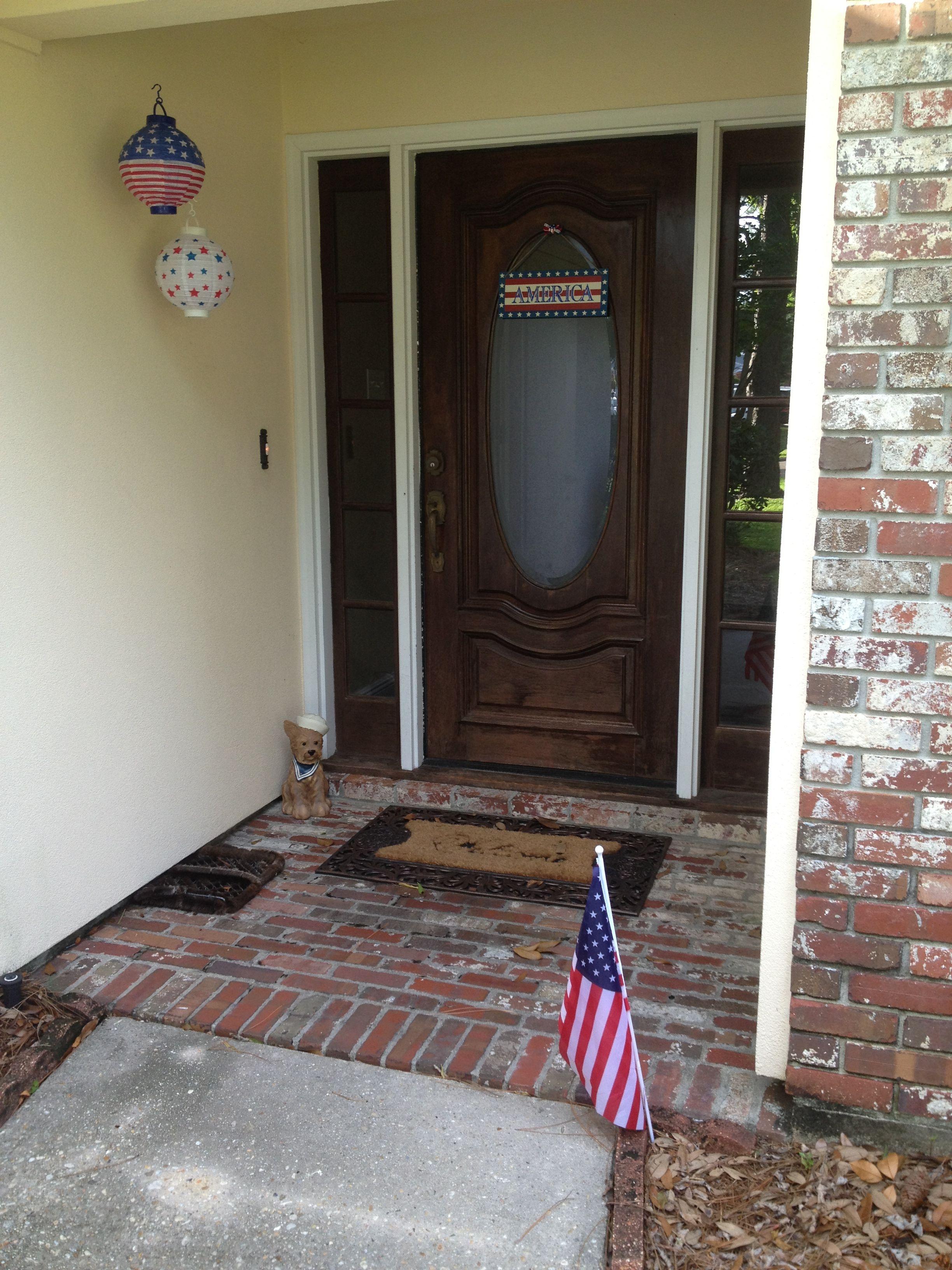 4th of July front door decor from dollar tree under $5 bucks