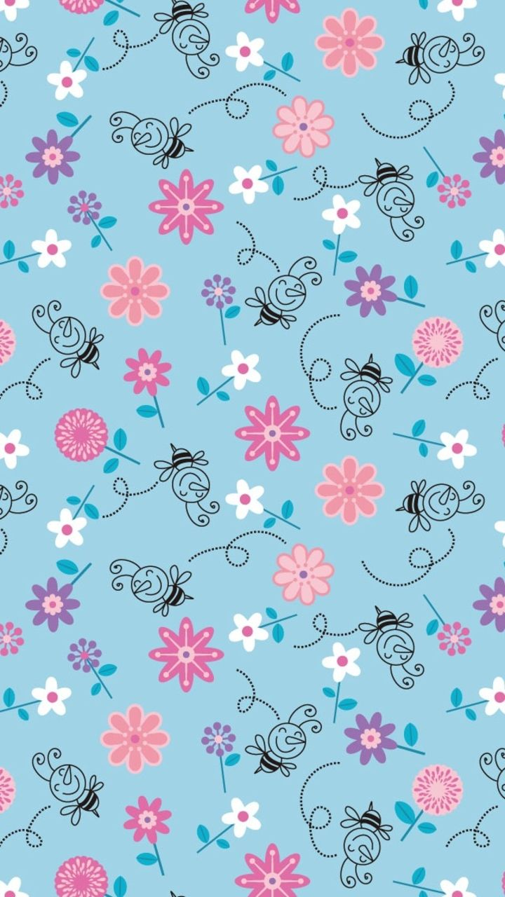 Tribal iphone wallpaper tumblr - Bees And Flowers Illustration Pattern Iphone 5 Wallpaper