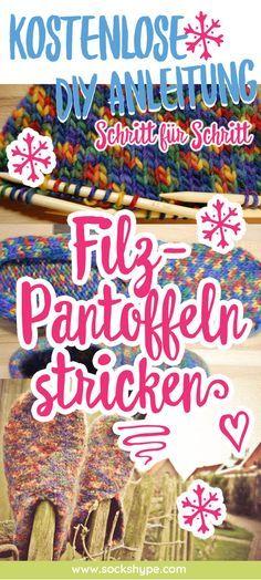 Photo of ▷ Anleitung: Strickfilzpantoffeln | sockshype.com