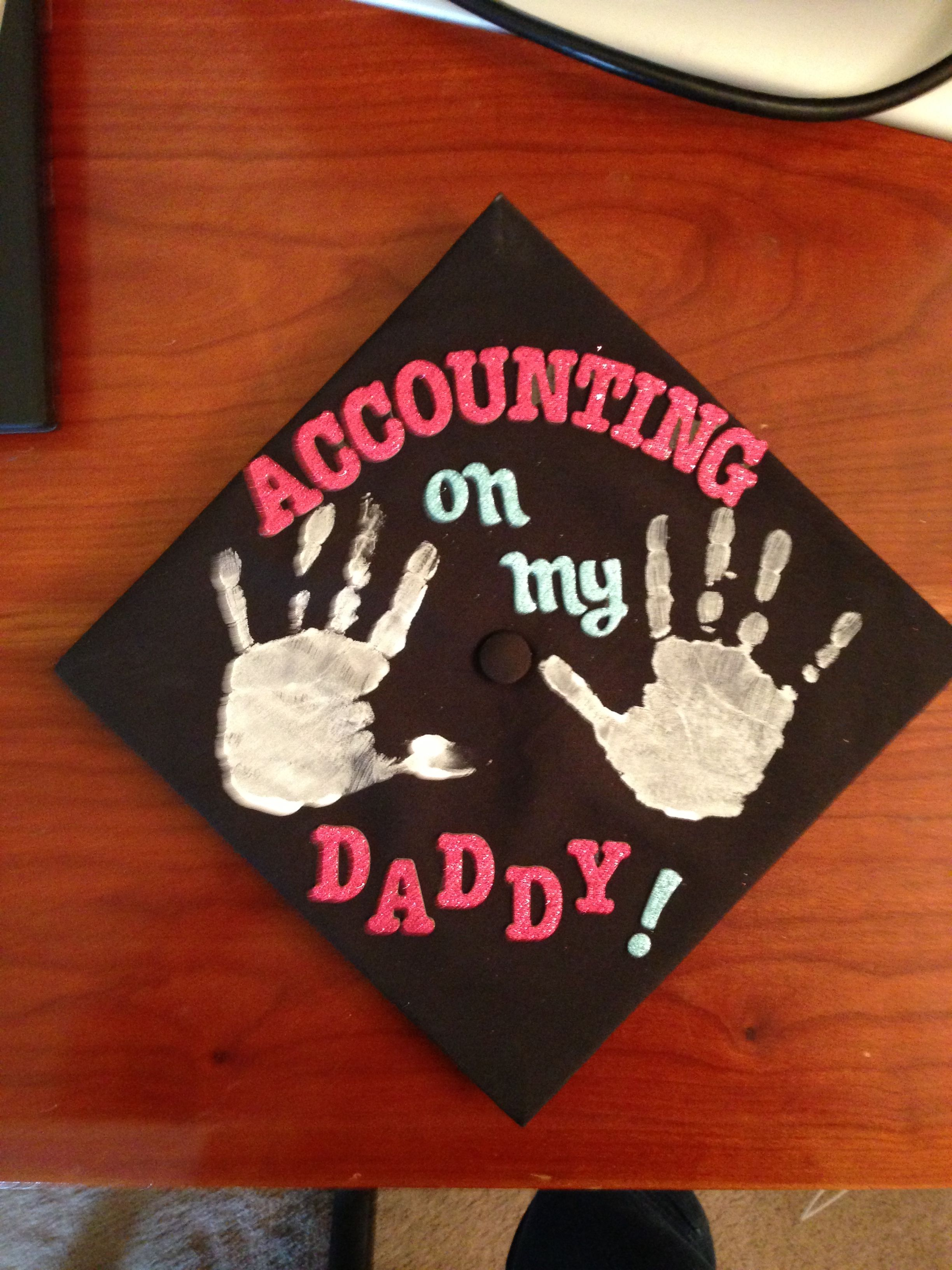 Graduation cap for accounting majors with kids for Accounting graduation cap decoration