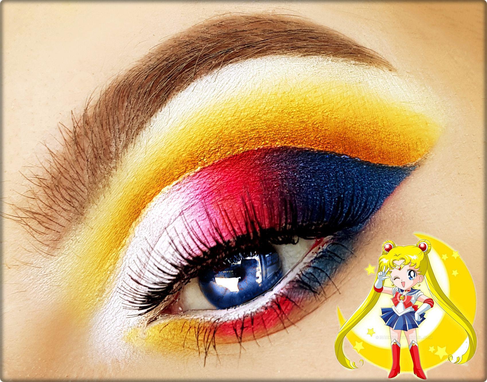 Sailor Moon Inspired Makeup Look In 2020 Sailor Moon Makeup Makeup Sailor Moon