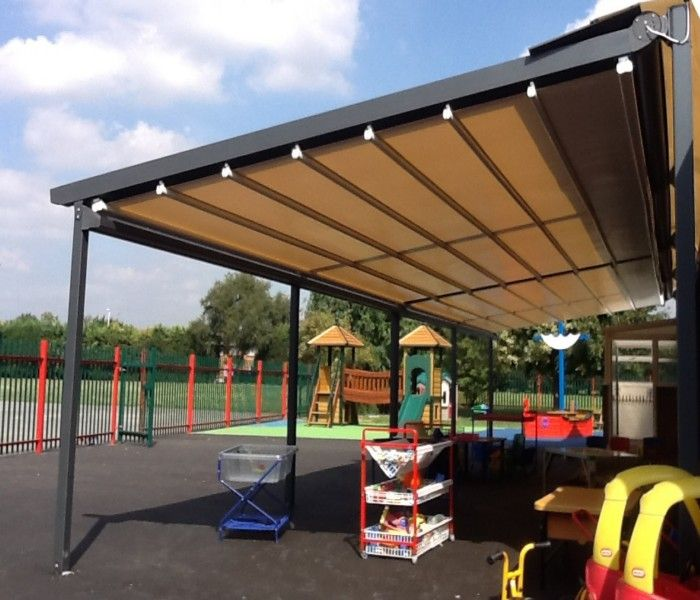 For Making The Retractable Awning Pergolas You Can Make Roof Of With Fabric Or Flexible