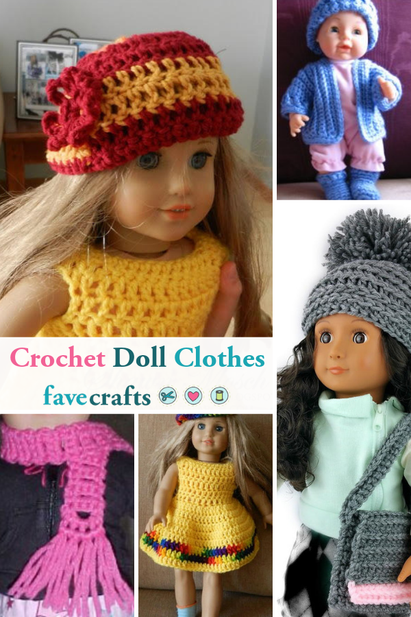 fe344f8d11a6 12+ Free Crochet Doll Clothes Patterns