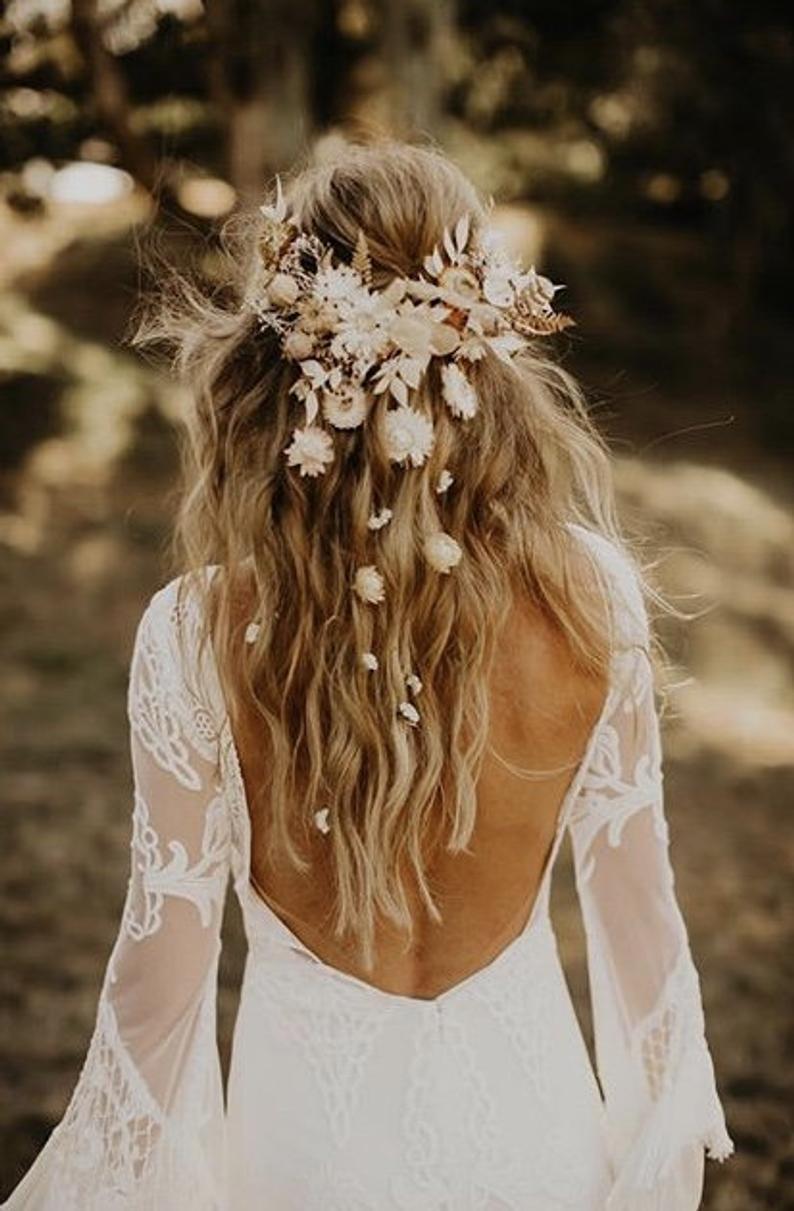 Romantic hair comb Flower hair comb Hair flowers Wedding comb Bridal hair fashion accessories Boho style