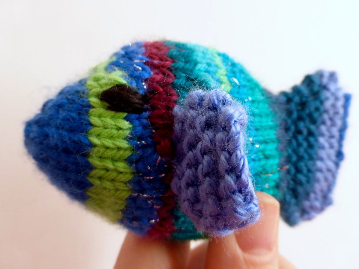 Little Rainbow Fish Free Knitting Pattern Cute Quick And