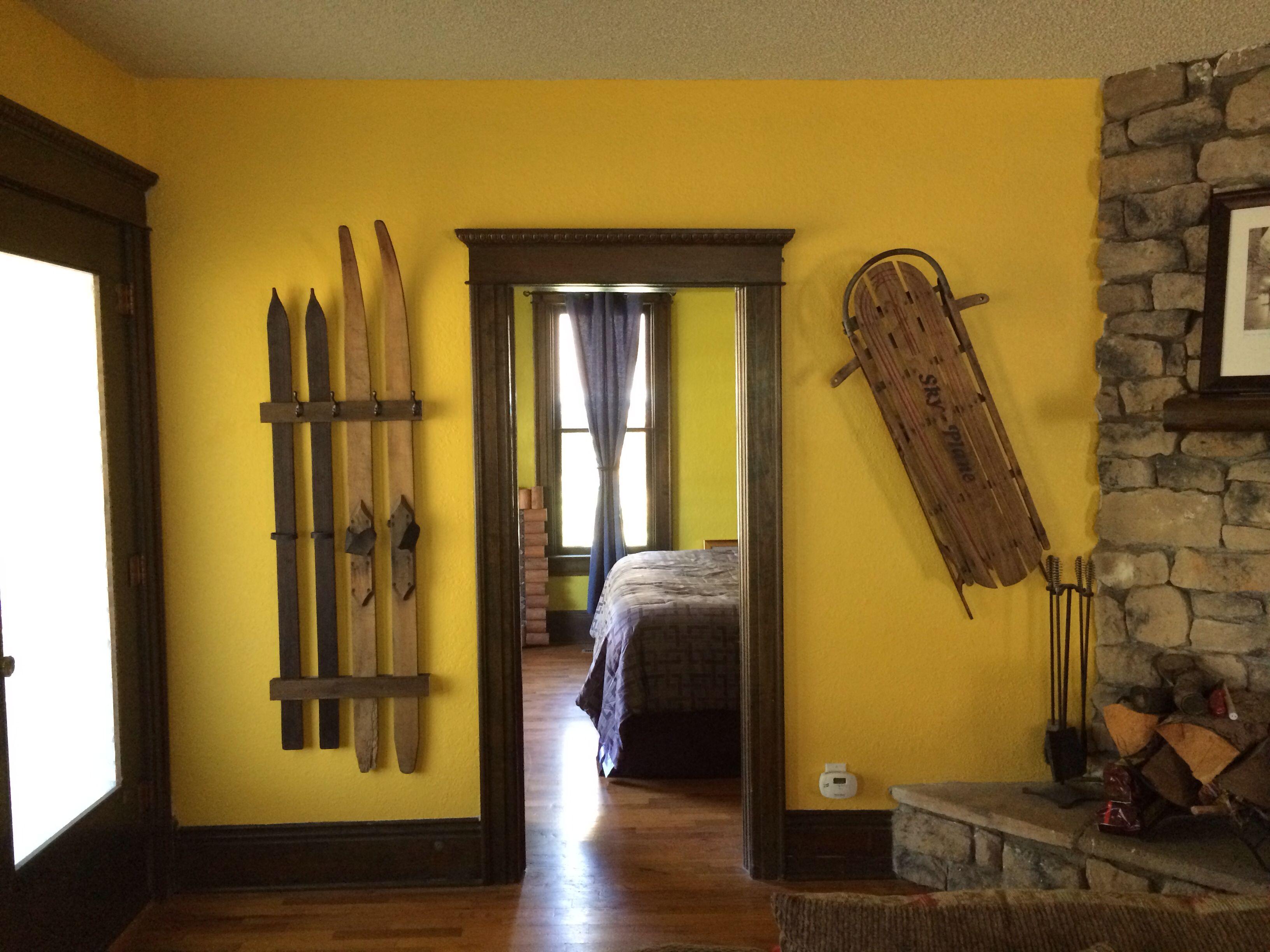 Antique ski coat rack and sled   Home Ideas   Pinterest   Coat racks ...