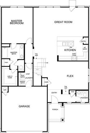 Floor plan for current house Plan A 2502 First Floor Home