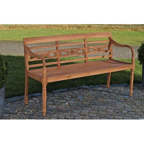 Sol 72 Outdoor Ransart Teak Bench Wooden Arbor Iron Bench Traditional Benches