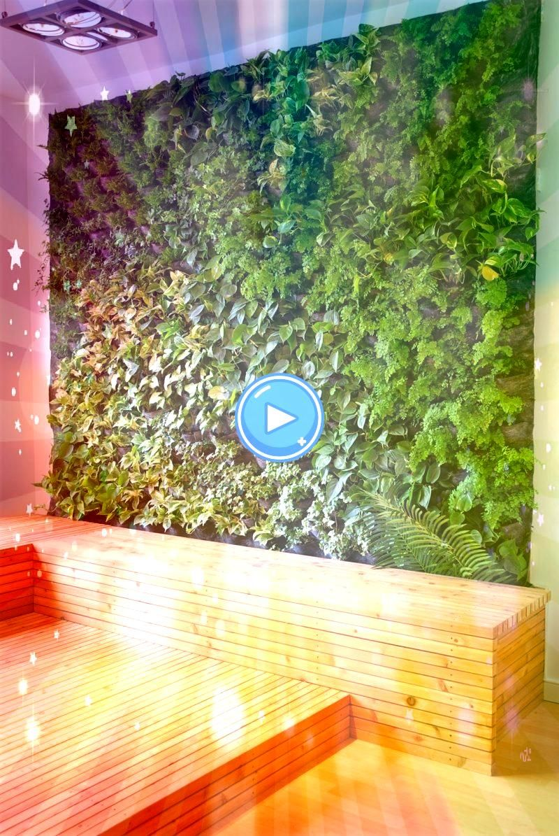 a vertical garden yourself  step by step instructionsBuild a vertical garden yourself  step by step instructions Fake Wall Hang Plant Green Wall For Outdoor Or Indoor Dec...