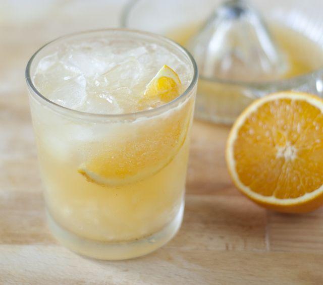 orange ginger gin fizz