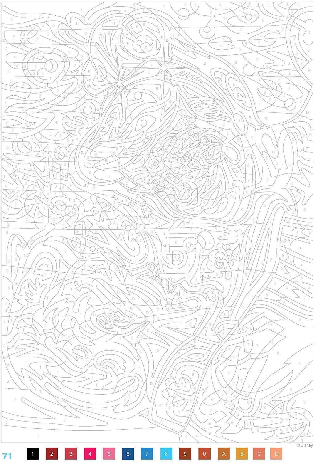 26 Coloriages Anti Stress Mystere Disney Fnac  Coloriage mystere
