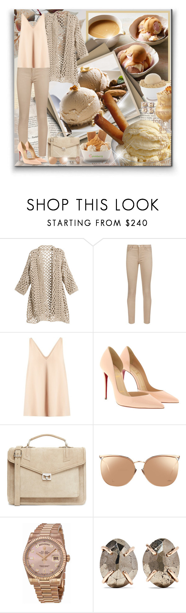 """I Is For... (Ice Cream)! - Contest!"" by asia-12 ❤ liked on Polyvore featuring Disney, 7 For All Mankind, STELLA McCARTNEY, Christian Louboutin, J.Lindeberg, Linda Farrow, Rolex and Melissa Joy Manning"
