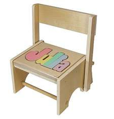 Brilliant Personalized Puzzle Maple Flip Stool Kids Step Stools Pdpeps Interior Chair Design Pdpepsorg