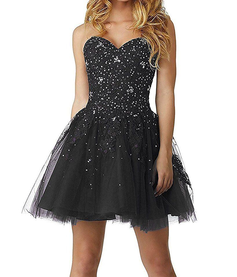 0acd04e96cc7 Shoppen Sie CLLA dress Damen Schatzhals Abendkleider Elegant Kurz ...