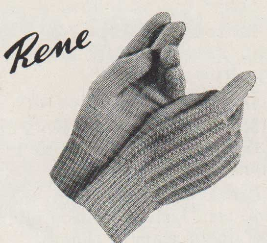 Rene childrens gloves. Knit flat on two needles | Knitted ...