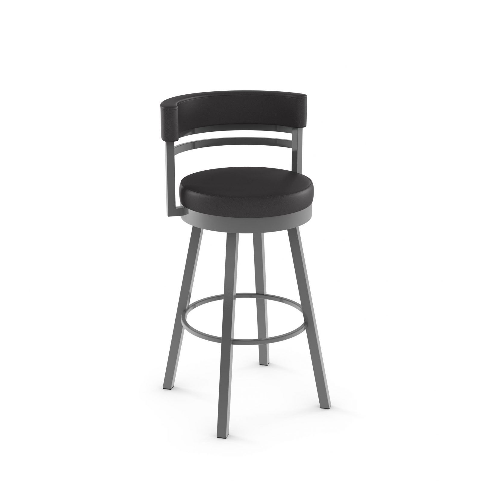 Amisco Ronny Swivel Bar Stool With Cushioned Seat Backrest 41442 Bar Stools Swivel Stool Metal Counter Stools