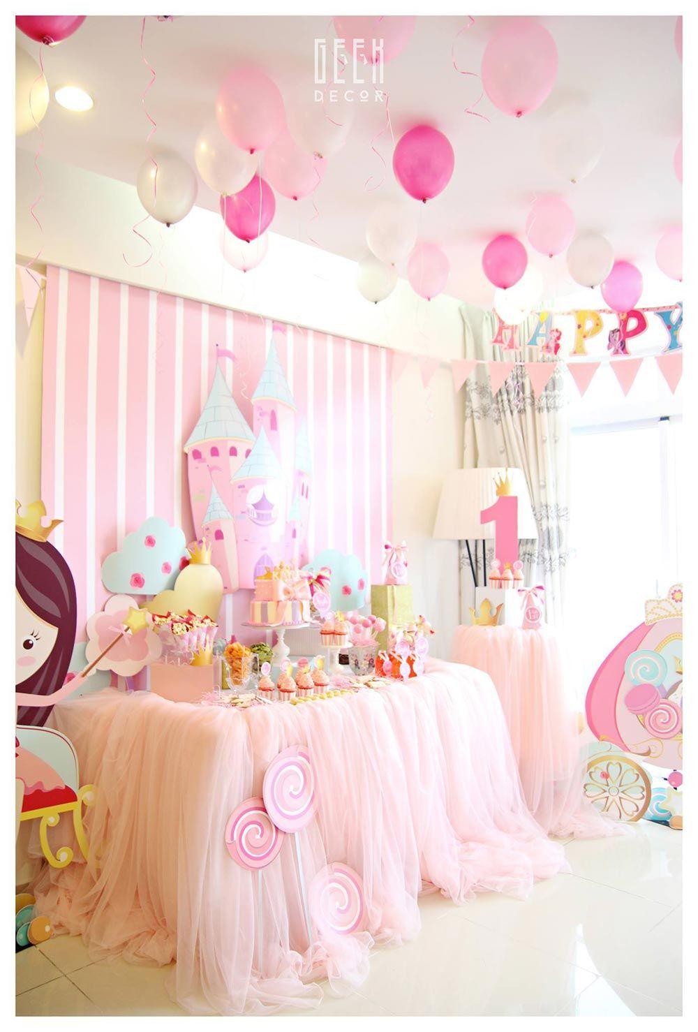 Trang trí sinh nhật bé Kayla - Chủ đề Princess