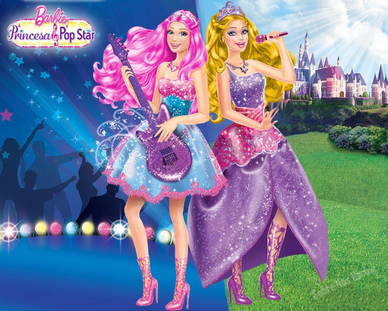 Barbie Doll Princesa Pop Star Wallpaper Wallpaper in 2020