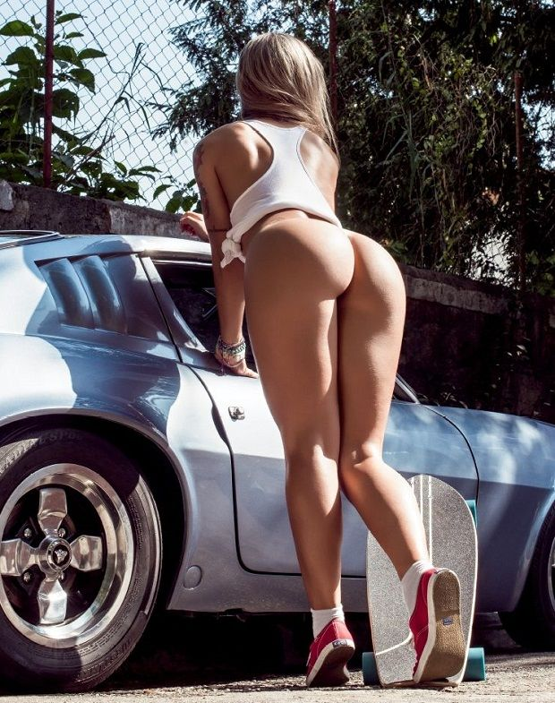 car and girl