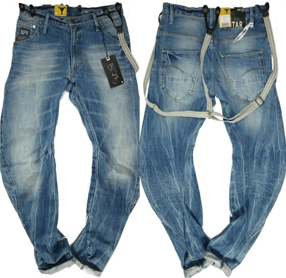 G Star Mens Jeans W 31 L 34 Arc 3D Loose Tapered Braces
